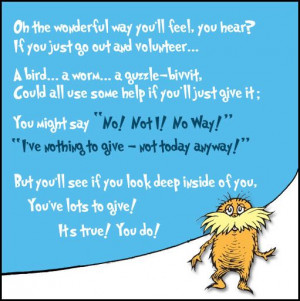 Awesome & fun Dr. Seuss cartoon about volunteering from Hands On ...