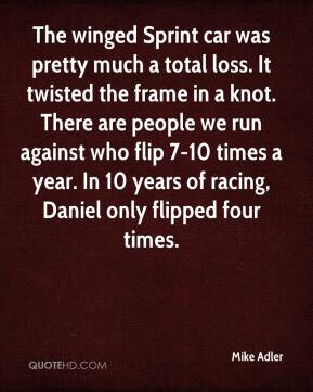 Mike Adler - The winged Sprint car was pretty much a total loss. It ...