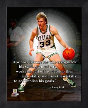 Boston Celtics Larry Bird Winner Framed Pro Quote