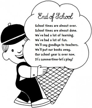 found this cute END OF YEAR poem posted by Debbie Clement from ...