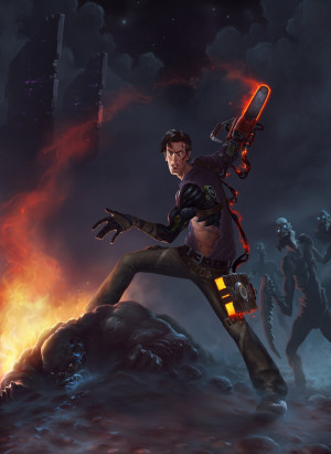 fan art evil dead Ashley Williams Ash Williams Alexandr Menshikov