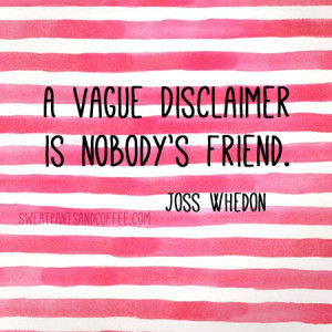 On disclaimers: