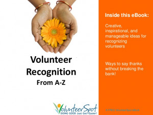 Volunteer Recognition from A To Z