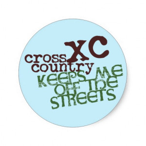 Funny Cross Country Running Round Stickers