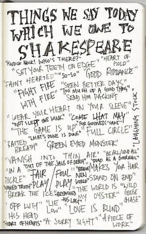 Thanks Shakespeare