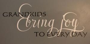 Catalog > Grandkids Bring Joy, Family Wall Art Decal