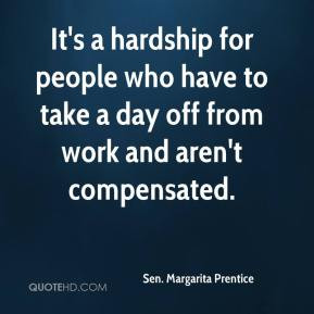 ... people who have to take a day off from work and aren't compensated