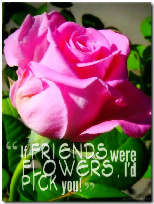 """If friends were flowers, I'd pick you"""""""