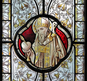 Stained Glass Window Showing St. Augustine of Hippo
