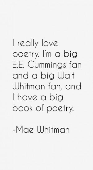 poetry i m a big e e cummings fan and a big walt whitman fan and i