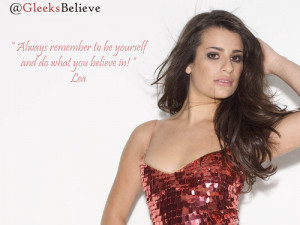 Inspirational Quotes: Lea Michele « Read Less