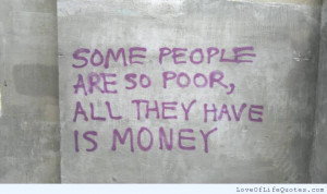 ... on being poor fake people vs real people if your daily life seems poor