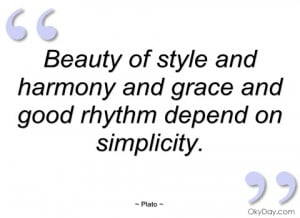 beauty of style and harmony and grace and plato