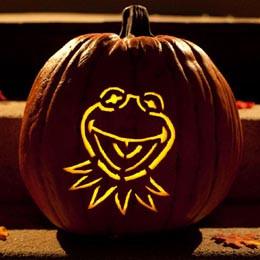 Kermit the Frog Pumpkin Carving Template