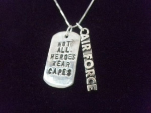 Air Force Military Hero Necklace, Air Force Wife, Air Force hero, Air ...