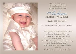 Baptism Godparent Poems