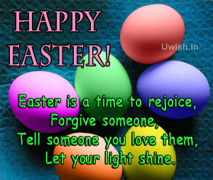 Pictures of Happy Easter with eggs shaped chocolates and Easter quotes ...