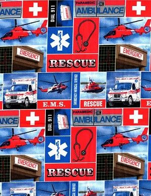 United States of America Emergency Medical Service EMS Cotton Fabric ...