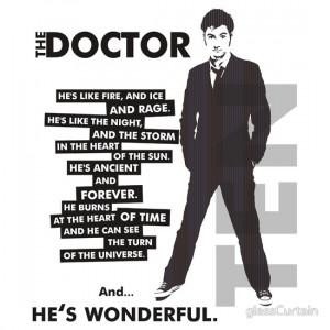TShirtGifter presents: Doctor Who - ...he's wonderful (variant 2)