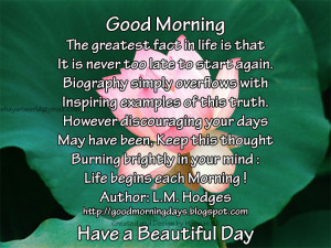 Good Morning Quotes for 16-05-2010