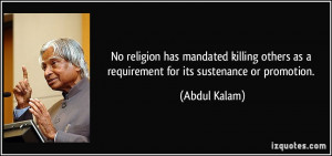 No religion has mandated killing others as a requirement for its ...