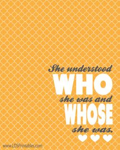 ... and whose she was. Elaine S. Dalton. General Conference quotes. More