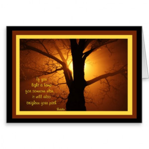 A03 Light a Lamp - Inspirational Buddha Quote Card