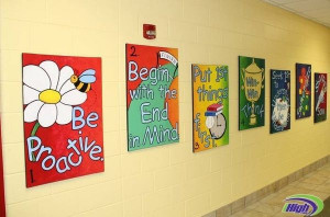 leader in me school hallways | Leader in Me Hallway Murals | school: 7 ...