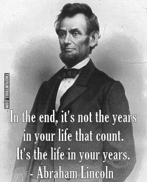 Abraham Lincoln's quote about life - The Filmtroll