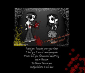 Emo love poems for a girlfriend