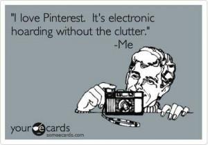 Pinterest, electronic hoarding