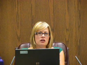 Kyrsten Sinema during the discussion