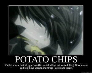 ... hand. write names with my left, ill take a potato chip.. AND EAT IT