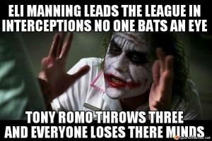 Eli Manning and Romo