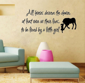 Love Horse Girls vinyl wall quote for home(China (Mainland))