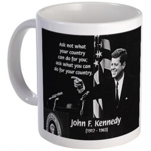 Famous Quote from JFK Mug