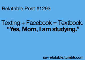 quote text quotes texting school study facebook studying relate ...