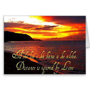 Hawaiian Words and Quotes Card
