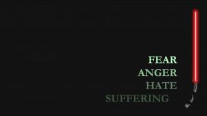 Star Wars Fear Anger Hate Suffering Lightsaber dark wallpaper ...