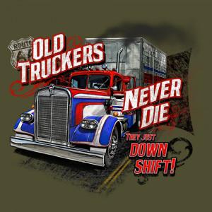 old trucker never die pic