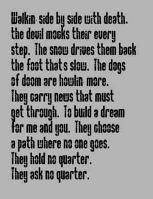 Led Zeppelin - No Quarter - song lyrics, music lyrics, song quotes ...