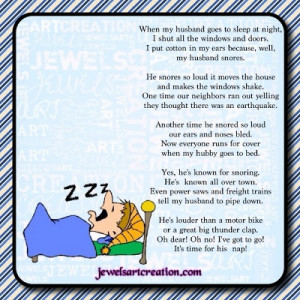 My Husband Snores | Jewels Art Creation