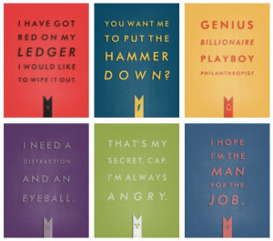... , Thor, Iron Man, Hawkeye, Hulk, Captain America. Infamous quotes