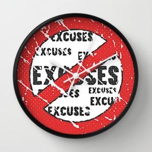 No Excuses Sign Fitness & Bodybuilding Motivation Quote Retro Style ...