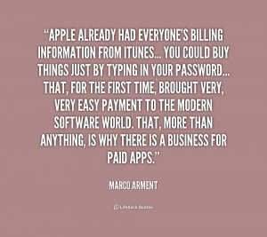 Apple already had everyone's billing information from iTunes... you ...