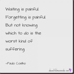 visceral reaction to this one the mess # quotes # coelho want more ...