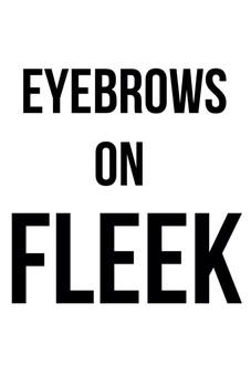 eyebrows on fleek (white) - Funny t-shirt - Starting at 10$