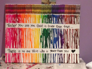 Melted Crayon Art Quote by CaputoCreations on Etsy, $50.00