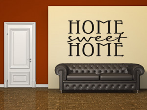 Home Sweet Home Quote Wall Stickers Wall Art Decal Transfers