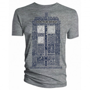 Doctor Who Tardis of Quotes Adult T-Shirt